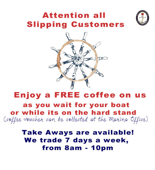 RQYS Slipway - coffee deal